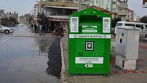 Tekstil atıkları için özel geri dönüşü kutuları