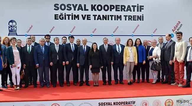 Sosyal Kooperatif Eğitim Treni Adana'da