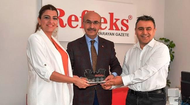 Vali Demirtaş 'Lokomotif Özel Ödülü'nü Refleks'te aldı