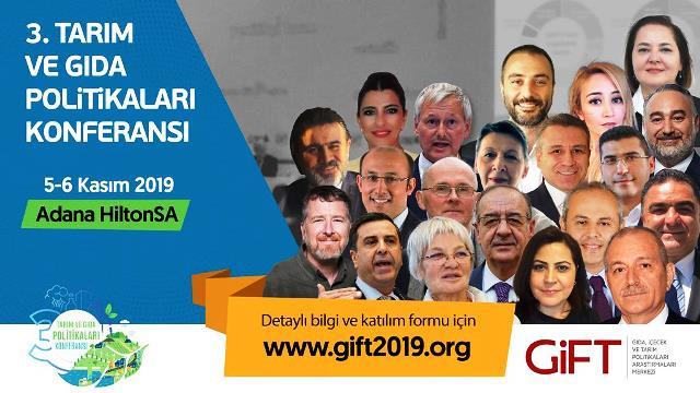 Tarım ve gıdanın politikası Adana'da belirlenecek