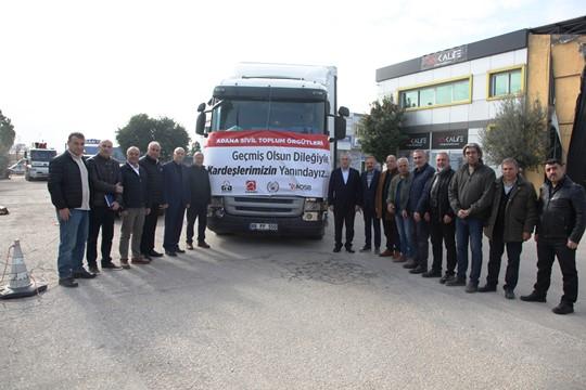 Adana iş dünyasından depremzedelere yardım