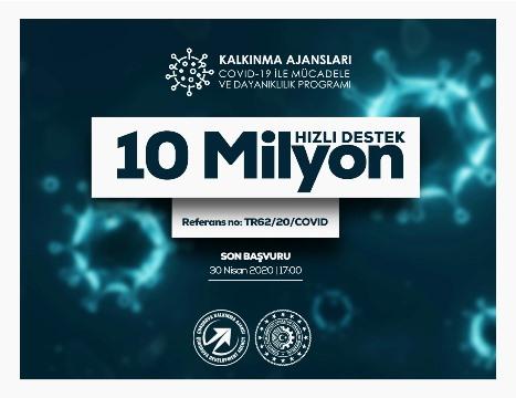 Koronavirüsle mücadeleye ÇKA'dan 10 milyon TL destek