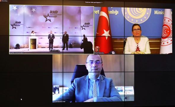 'İKMİB İhracatın Yıldızları Ödül Töreni' video konferans yöntemiyle gerçekleştirildi