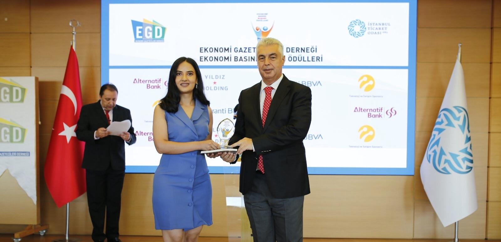 EGD'den ödül aldık